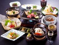 【松茸会席一例】秋の訪れを告げる味わい、香りをたっぷりとお楽しみいただける秋限定のお料理。