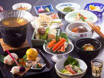 【チョイス】メインの鍋を河豚・蟹・大和ポークからお選びいただけます(写真は蟹)