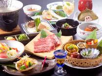 【特別会席一例】地元のもの、手造りに拘った当館自慢の大和会席の最上級料理です。
