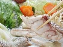 【天然クエ鍋】旨みたっぷり天然ものの高級魚をお鍋で。冬のお楽しみです♪