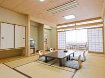 海側和室の一例。寛ぎの和風のお部屋。