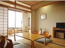 海側和室の一例。ゆったりと明るいお部屋でお寛ぎ下さい。