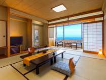 【海側ワイドルーム】 お友達とのグループ旅行にもぴったり♪広々12畳のお部屋。