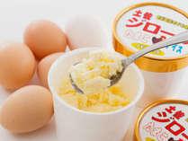 【当館オリジナルアイス】 土佐ジローの卵を使ったシャリシャリ食感アイス♪お食事時にご注文いただけます