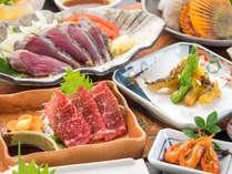 """◆『カツオ』『クジラ』『ウツボ』土佐ならではの3つの""""うまい""""を一度に食べられる至極のプラン!"""