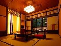 <照明普及賞受賞>和モダン客室の一例(10帖)-照明や色彩にこだわった空間です