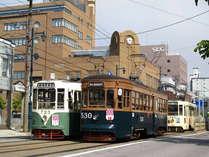 市内観光は便利な函館市電でどうぞ。 600円で一日乗り放題!!