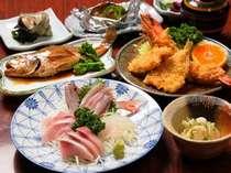 【地魚刺身・サザエ】プランの夕食(例)