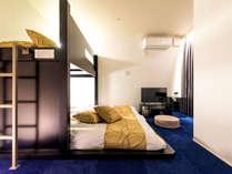 101号室◆シンプルで洗練された雰囲気のクールカラーのお部屋