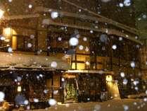 HATAGO井仙外観(雪景色)