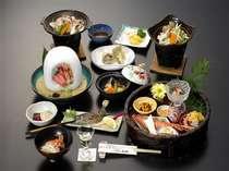 【夕食】当館一番人気の定番コース!将軍会席 お料理例(季節により内容は変ります)