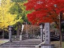 紅葉で色鮮やかな土津神社です