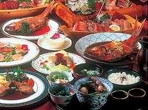 舟盛付き和洋折衷コース料理は金目鯛の煮付けが好評!
