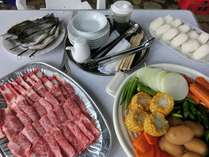 1日2組限定!信州牛と無農薬野菜のバーベキュー(連泊時+1,000円でフルコースから変更できます。)
