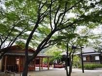 2010年5月オープン「旧堀切邸」は足湯・手湯が整備された無料施設。ホテルより徒歩3分の散策スポット
