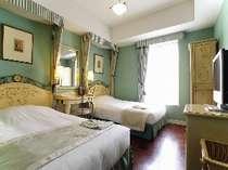 ペパーミントグリーンの壁紙もさわやかな客室 ,東京都,ホテルモントレ ラ・スールギンザ