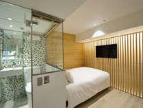 Japanese modern double  superior(W140cm×L203cm・1Bed)匠の技で新しい日本を表現したお部屋です。