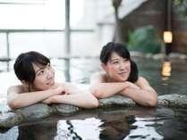 アルカリ性単純泉と単純硫黄泉の2種類の泉質がお楽しみ頂けます♪