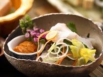 【夏会席 月舟】萩まふくや鱧、仙崎烏賊など日本海の旬魚や、和牛しゃぶしゃぶ、長門・萩の郷土料理も堪能