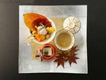 【秋会席】見た目にも味わいにも。ご当地ならではのとれたての秋の味覚をお愉しみくださいませ。