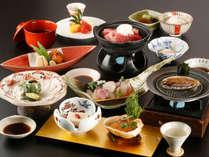 【食を愉しむ旅~冬会席「白露」】名物「ふく」、鯛、イカ、鮑のおどり焼。山口県の冬を色々とご賞味