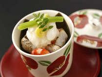 冬の特選会席「清月」:甘鯛のかぶら蒸し。萩・長門の日本海の幸