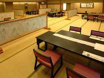 【深志楼】大広間では信州特産の蕎麦やお重ものの一品料理もお召し上がりいただけます。
