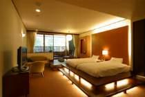 烟河最上級の客室、露天風呂付客室