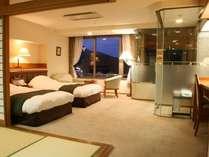 専用の「展望風呂」がついた和洋室。特別な日のステイに最適。