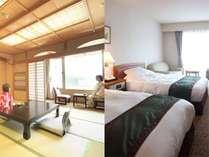 12.5畳の和室、居心地の良い洋室。どちらも自慢の客室です。