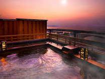 ◆◇【絶景展望風呂】夜は星が瞬き、潮風を感じながら海を一望する…贅沢な時間はまさに竜宮城◇◆