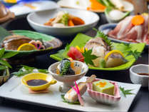 竜宮城のおもてなしは、美味しいお料理!地元の食材をふんだんに使った絶品会席です