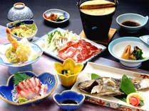 *お夕食一例。摩周鯛中心の和食御膳を、レストランにてご堪能下さい。