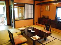 やすらぎ館一般客室。全室に客室付露天風呂がついたやすらぎ館。