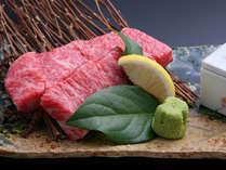上州牛。脂ののったジューシーな肉質は炭火焼に最適です