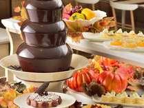秋の定番スイーツに加え、今年はチョコレートファウンテンが登場♪