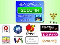 選べるe-Gift2000円分付き