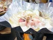 ぼたん鍋です。寒い冬に白山ならではの郷土鍋『ぼたん鍋』をお召し上がりください。