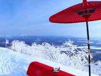 サホロゴンドラ山頂駅で開催の「頂茶屋」