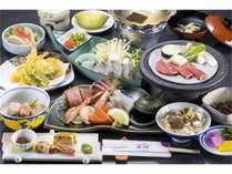 若狭湾四季彩会席「山茶花」料理内容は季節により変更する場合がございます。