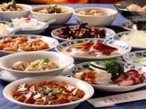 【重慶飯店新館】夕食付宿泊プランの料理イメージ(41品目あるメニューよりお好みで8品をお選び下さい♪)