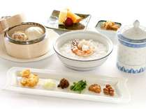 【朝食】中華朝粥のルームサービス
