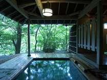 絶景の貸切露天風呂、隠れ湯「薫風」