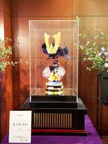 【季節のロビー装飾でお出迎え】(4~5月) 飴細工で出来た兜
