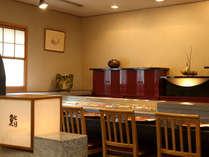 日本料理「呉竹」鮨カウンターで職人との粋な会話をお楽しみください