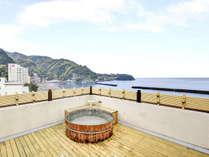 *展望貸切露天風呂 目の前が海なので開放感抜群です!