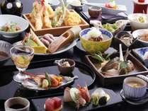 【夕食】四季夕膳会席。京都のおばんざいと天ぷらはオーダービュッフェで好きなものを好きなだけ。