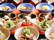 """【夕食】オーダービュッフェのおばんざいイメージ。京らしい""""汲み上げ湯葉""""等おかわり自由です♪"""