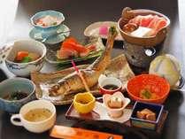 自慢の逸品ニシン姿焼き魚 夕食一例