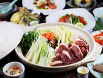 鴨の旨味たっぷり♪【アクアパッツァ】か【鴨鍋】を選べるあったかプランでお楽しみ頂けます。